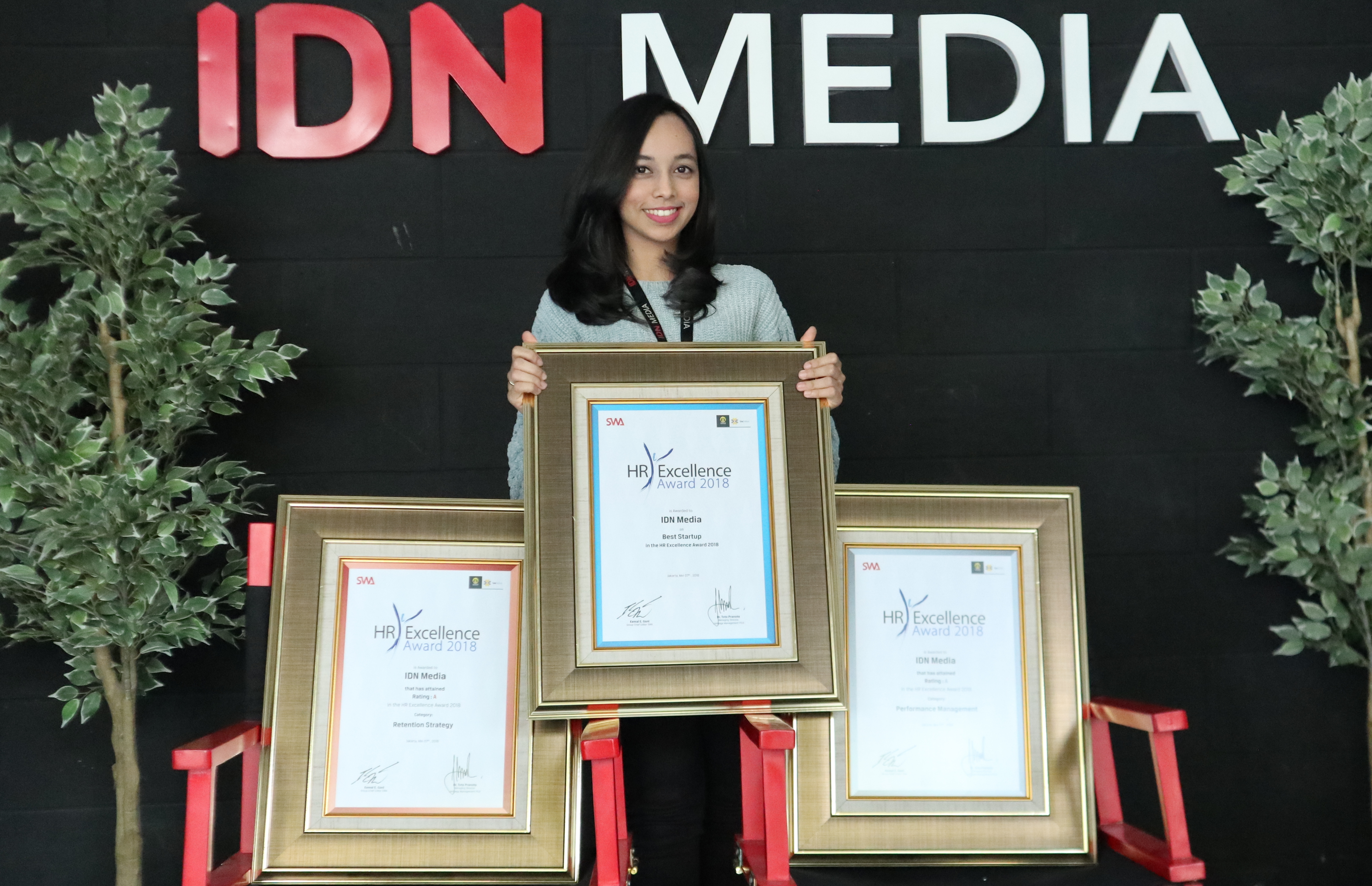IDN Media Received Best Startup Award, Among 3 Other Awards, at HR Excellence Award 2018
