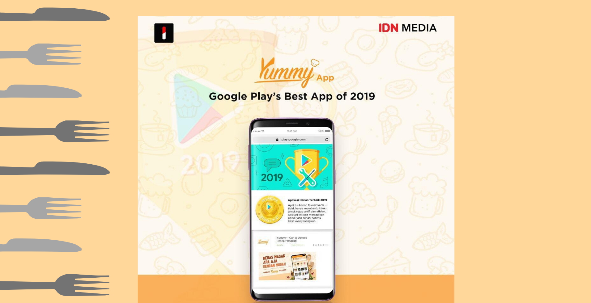 Ending the Year Sweetly, Yummy App Has Been Awarded as Google Play's Best App of 2019