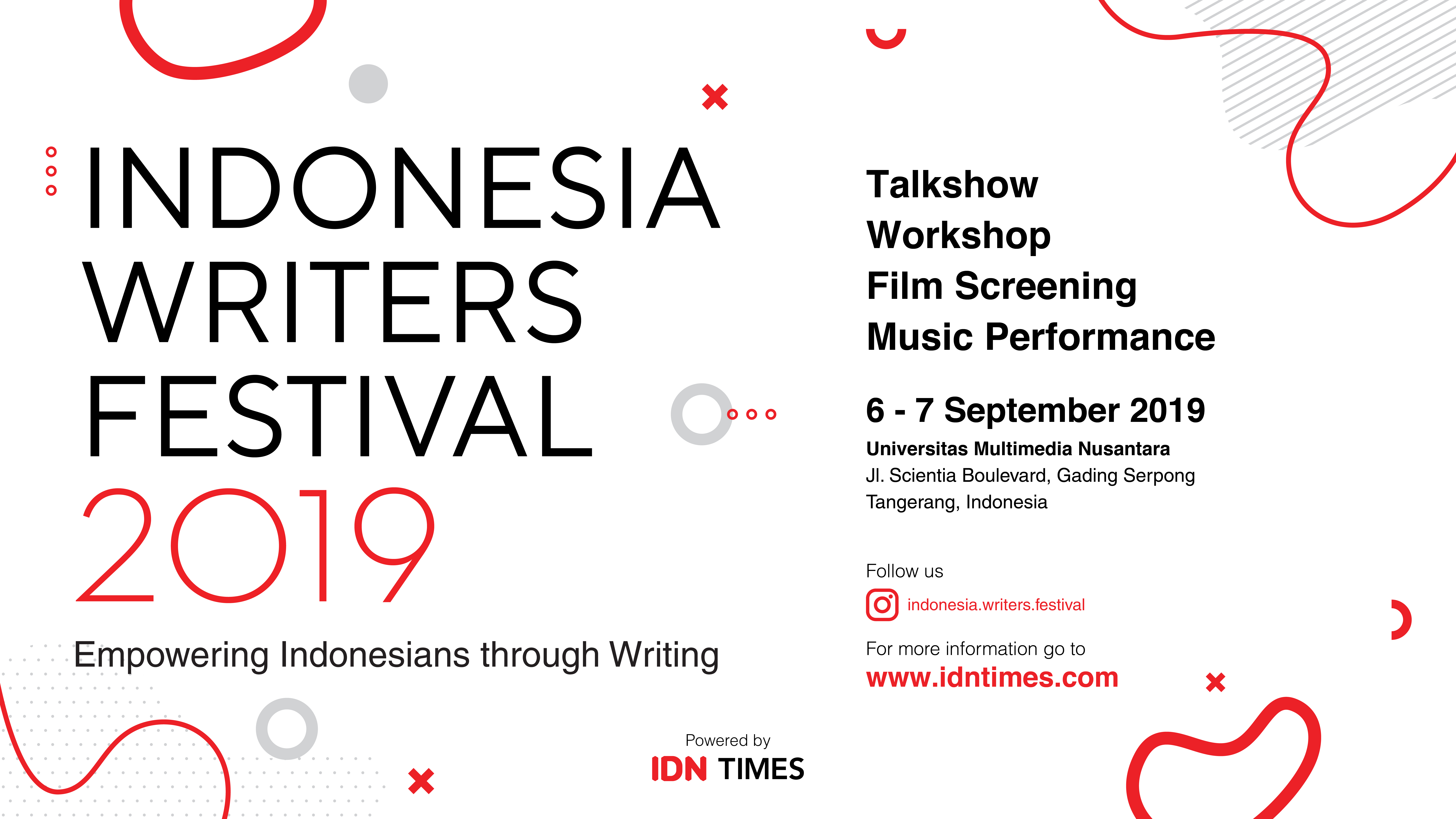 Indonesia Writers Festival by IDN Times is Back this September 2019